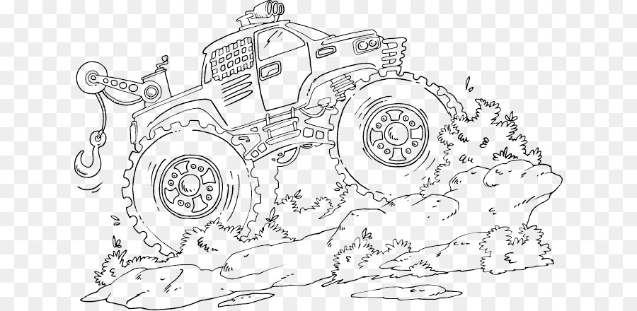 Monster truck Coche de libro para Colorear de Grave Digger - monster ...