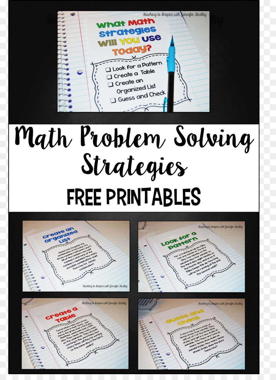 Mathematics Problem Solving Mathematical Problem Worksheet Word