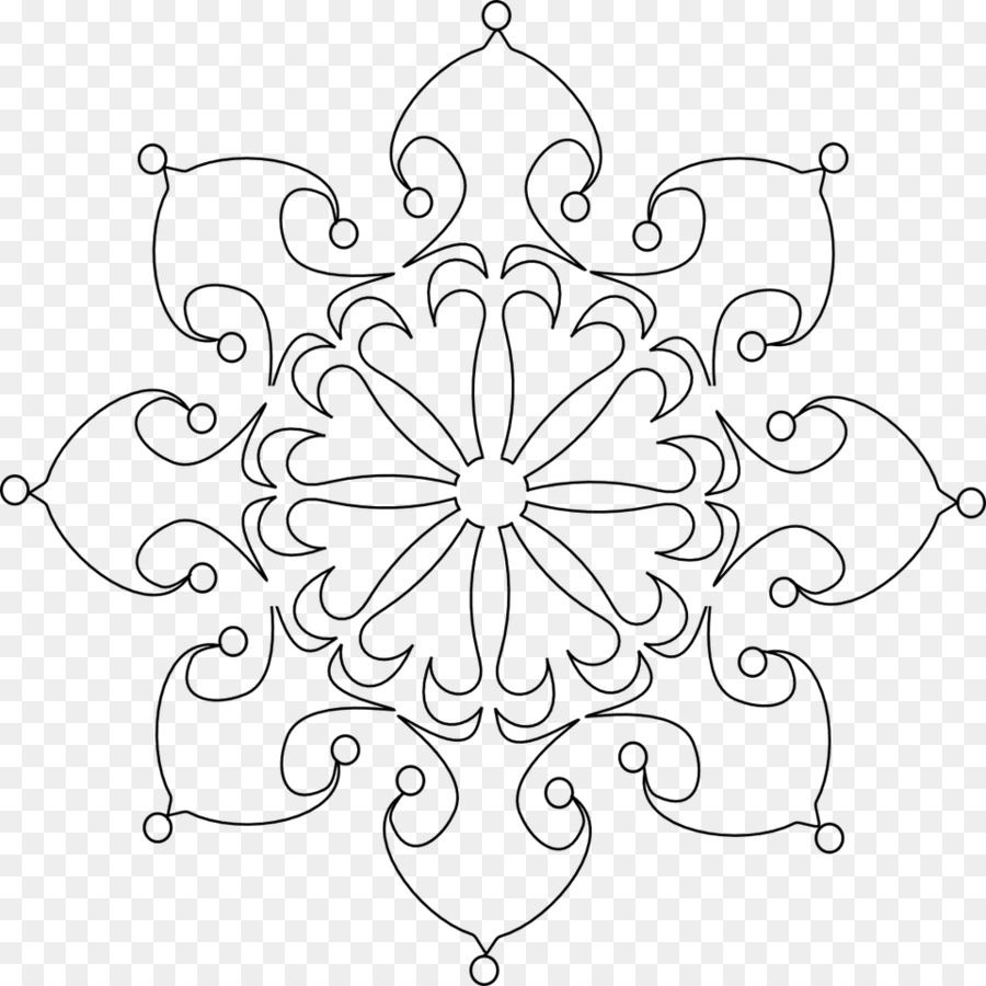 Coloring book Snowflake Adult - Snowflake png download - 960*960 ...