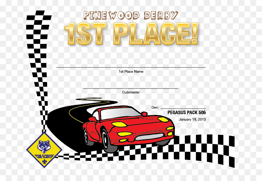 Pinewood derby Cub Scouting Pattern - Certificate of participation ...