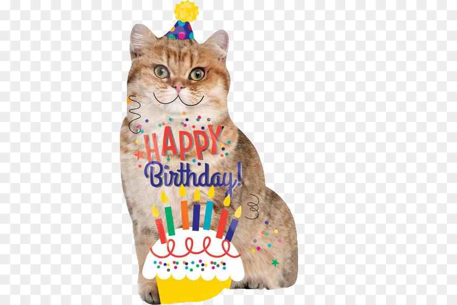 Cat Birthday Cake Balloon Kitten Cat Png Download 600600 Free