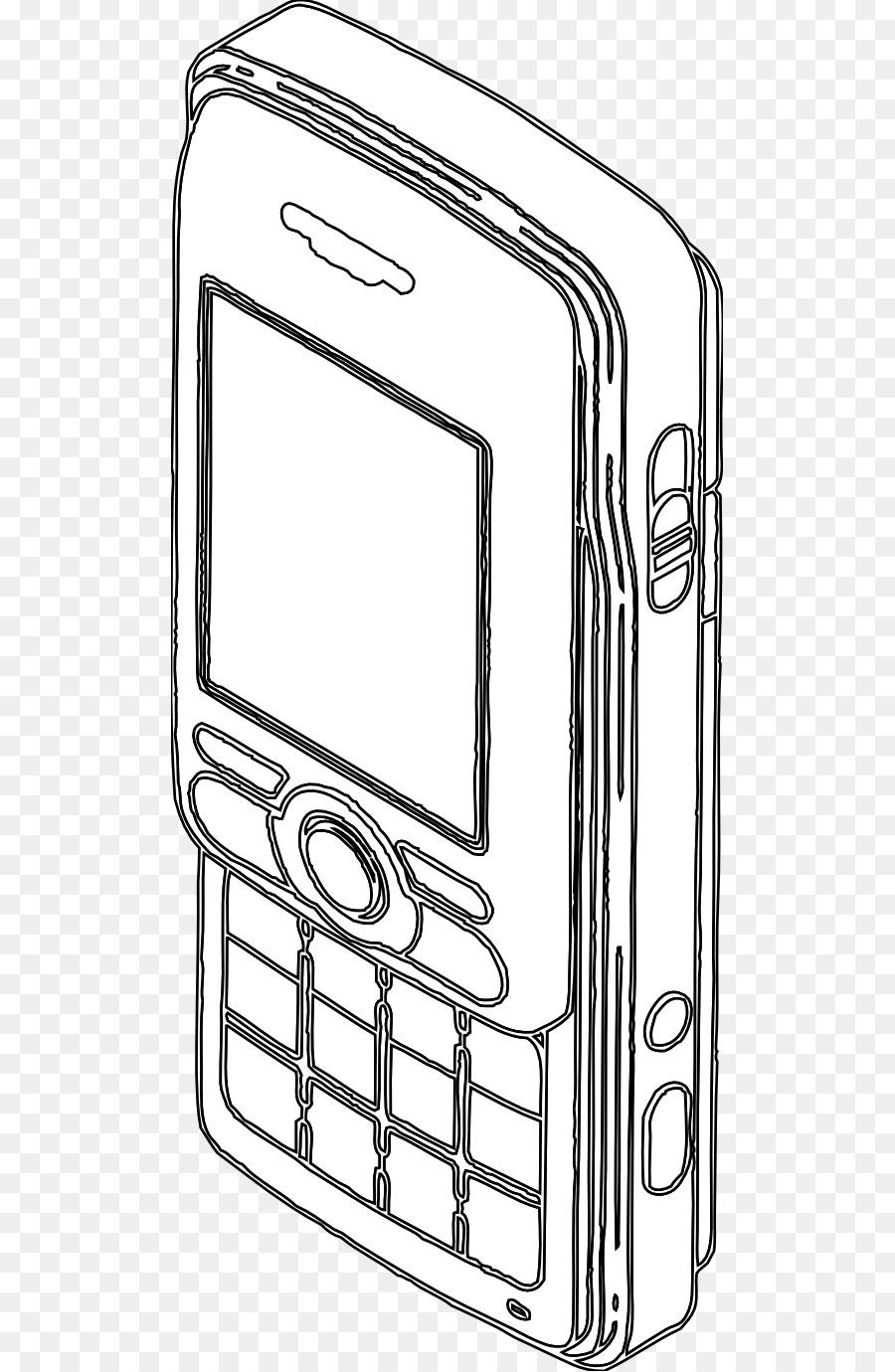 Coloring book iPhone Line art Text messaging - Iphone png download ...