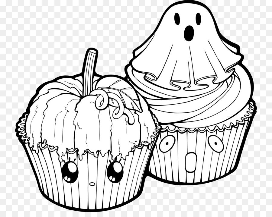 Cupcake Line art Drawing Ausmalbild Coloring book - pumpkin png ...