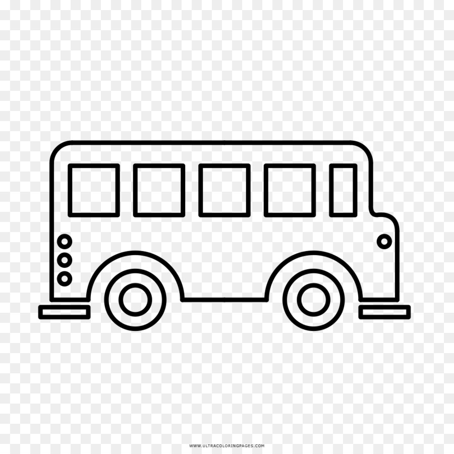 Bus Coloring Book Drawing Line Art Bus Png Download 1000 1000
