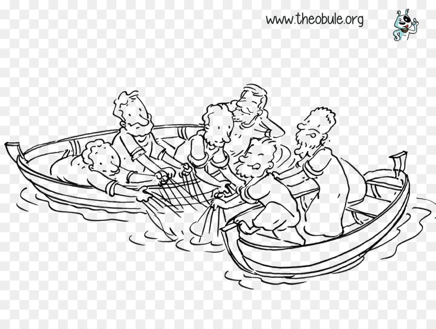 Pesca milagrosa Evangelio de Juan, Dibujo para Colorear libro de ...