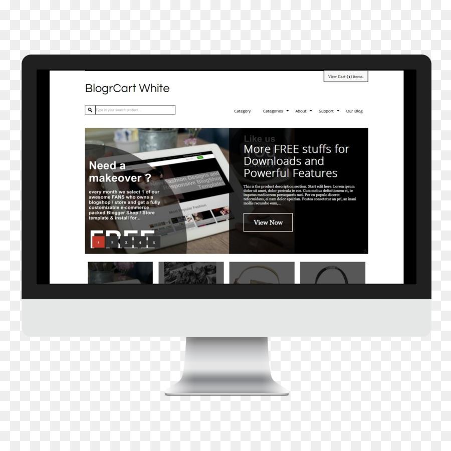 Responsive Web Design Blogger Template Shopping Cart Software E