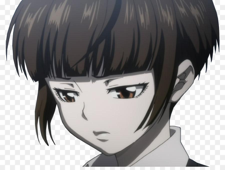 Akane Tsunemori Perucke Haare Farben Schwarzes Haar Pony Leute