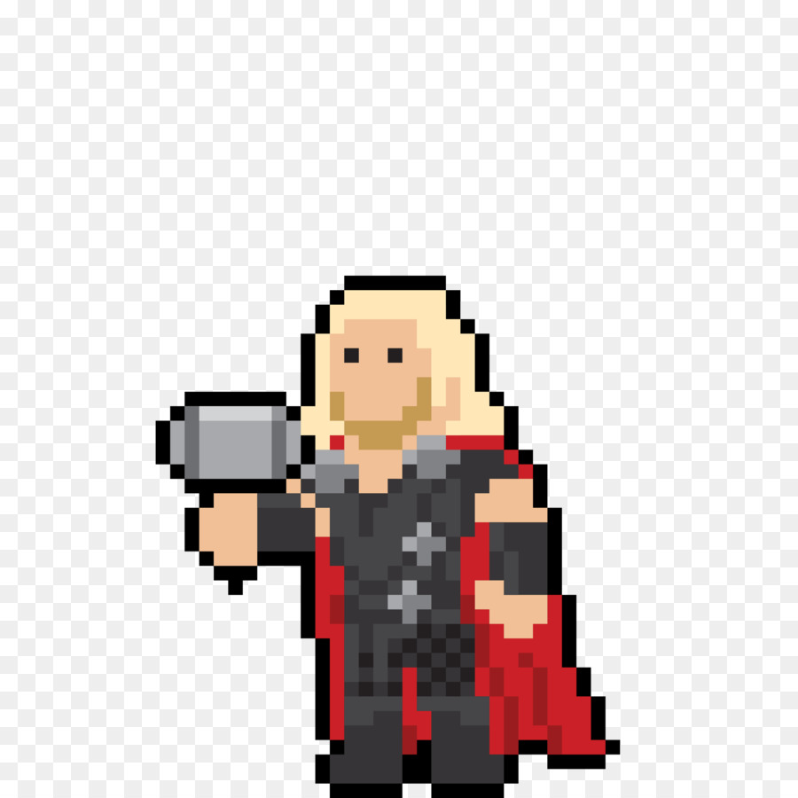 Pixel Art Avengers png download - 3840*3840 - Free Transparent Thor