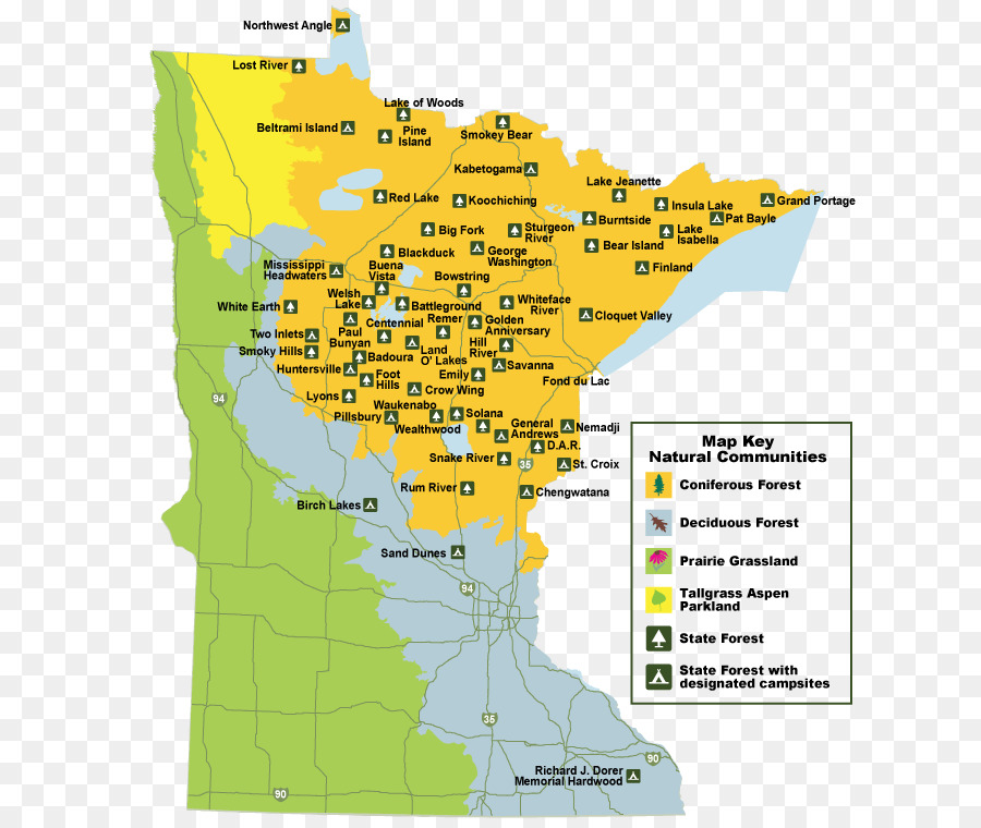 Chengwatana State Forest Pillsbury State Forest Minnesota Department ...