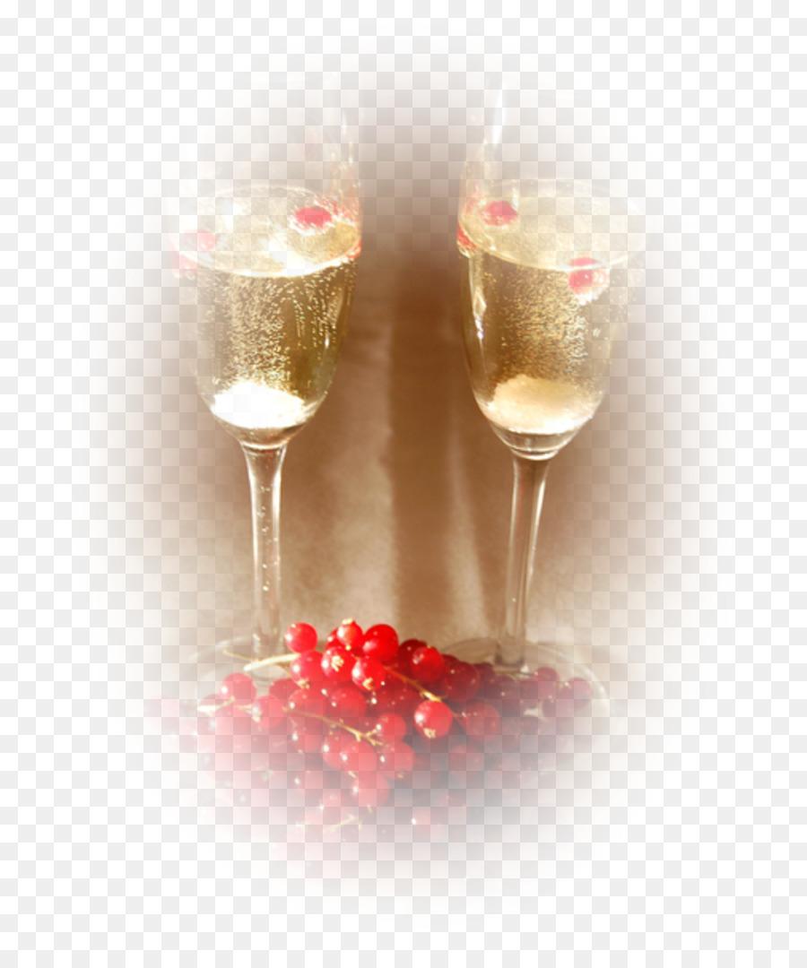 Birthday Cake Champagne Stemware Drink PNG
