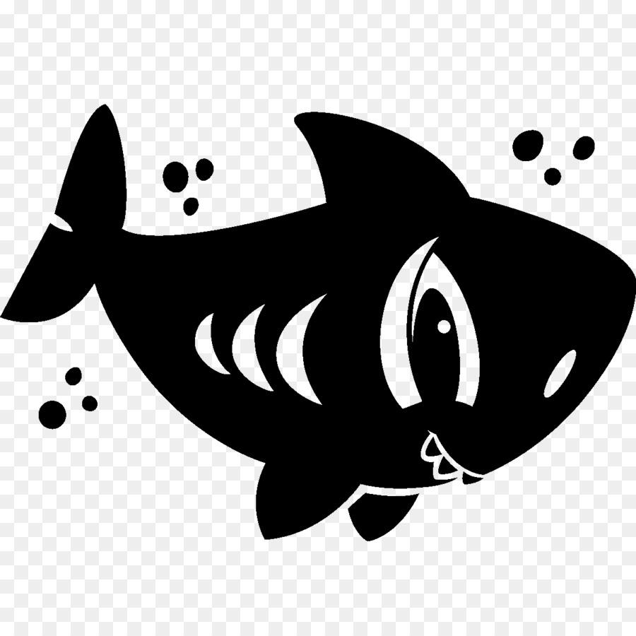 Hiu Mamalia Laut Kartun Clip Art Hiu Unduh Ikan Hitam Dan