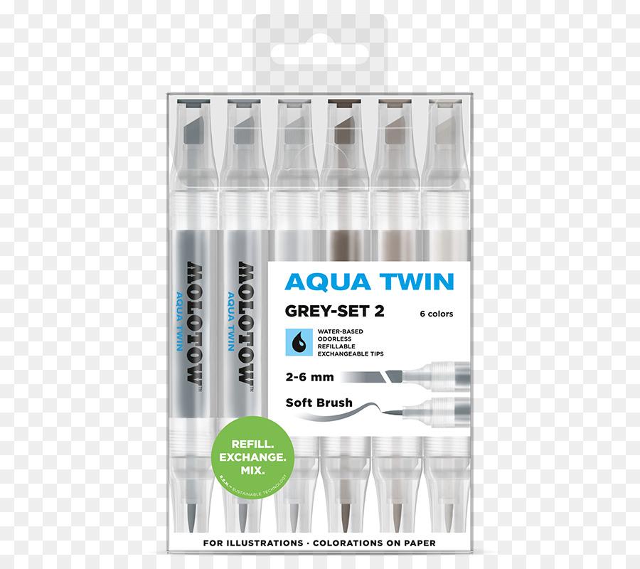 Marker Pen Color Set Copic Paper Watercolor Aqua Png Download