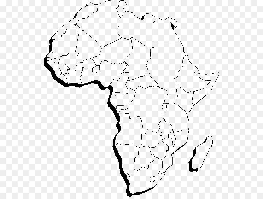 Peta Dunia Afrika Buku Mewarnai Benua Unduh Putih Hitam Gambar