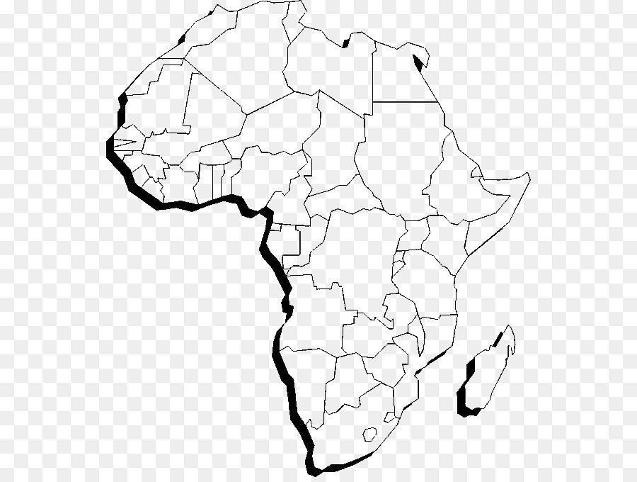Mapa del mundo de África libro para Colorear Continente - África png ...