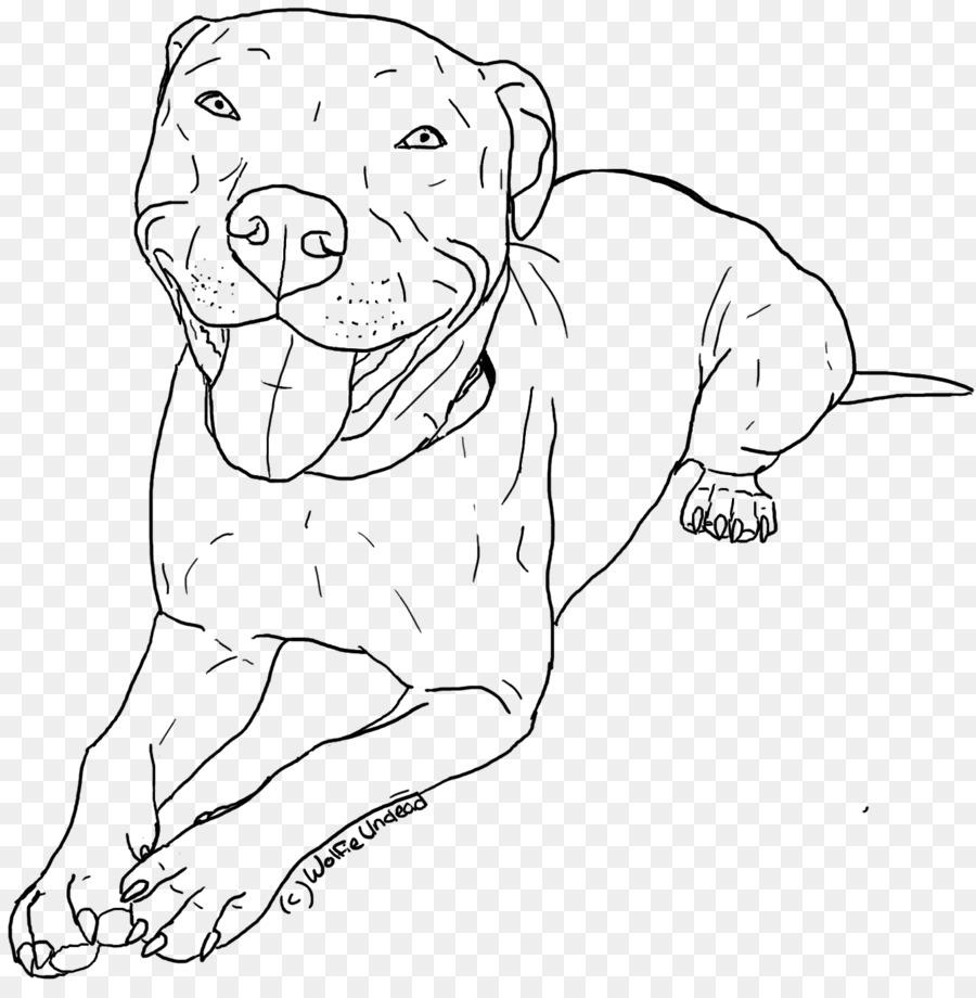 American Pit Bull Terrier Cachorro Dibujo para Colorear libro ...
