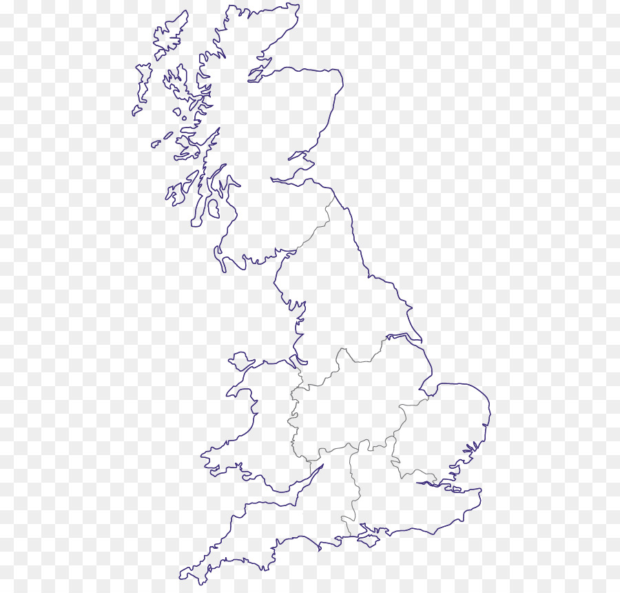 England Blank map British Isles Geography - England png download ...