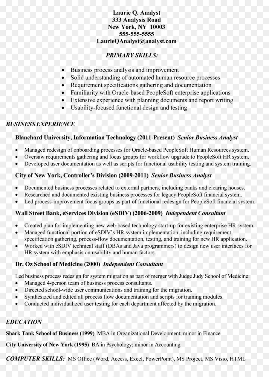 résumé business analyst job description job resume analyst png