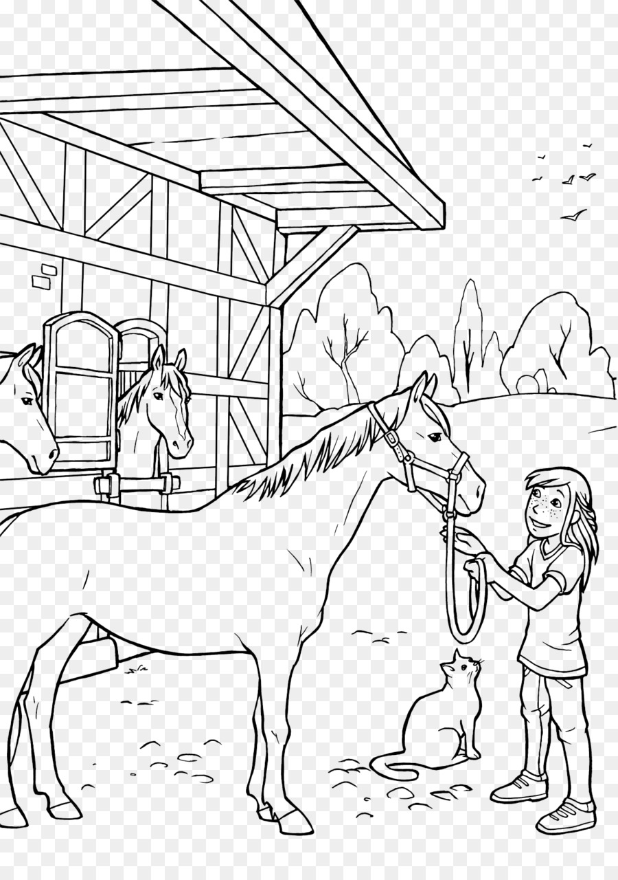 Horse Pack animal Ausmalbild Filly Coloring book - horse png ...