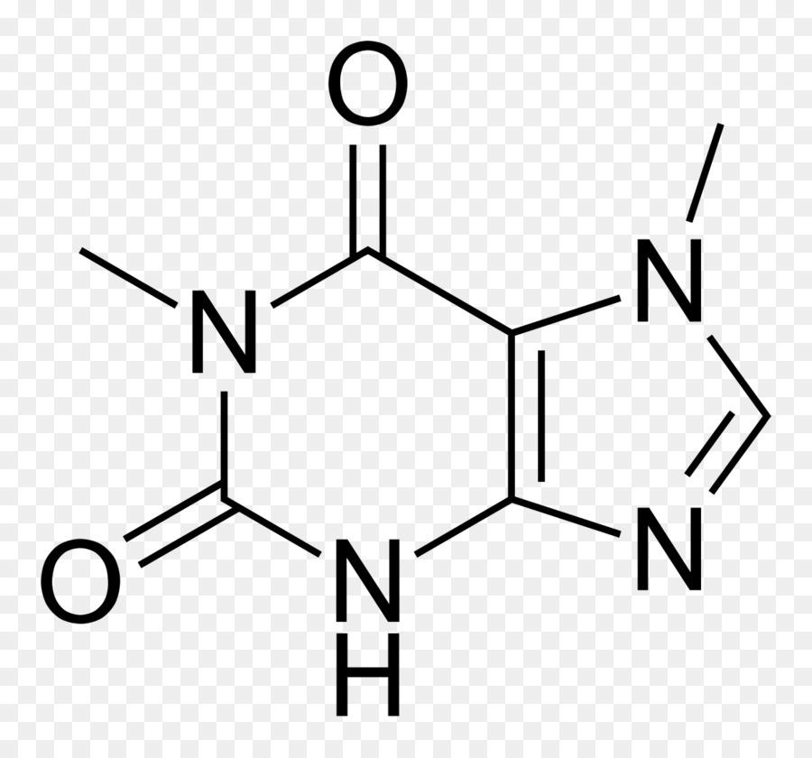 Tea Caffeine Chemical Formula Paraxanthine Molecule Tea Png