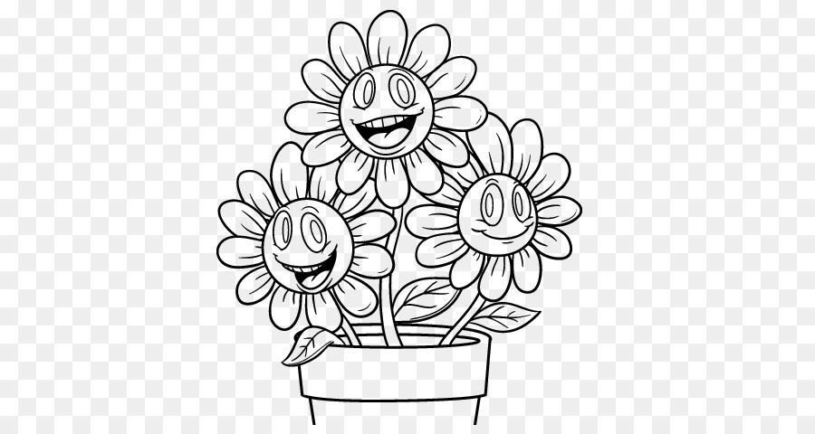 Maceta Dibujo para Colorear libro - maceta flores png dibujo ...