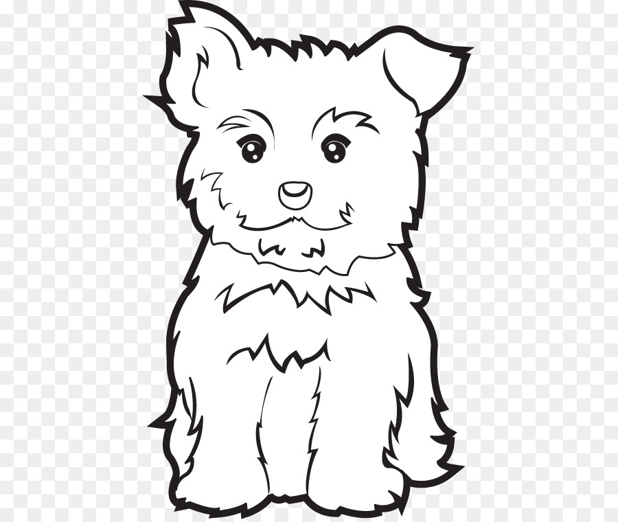 Yorkshire Terrier libro para Colorear Cachorro Morkie Yorkipoo - la ...
