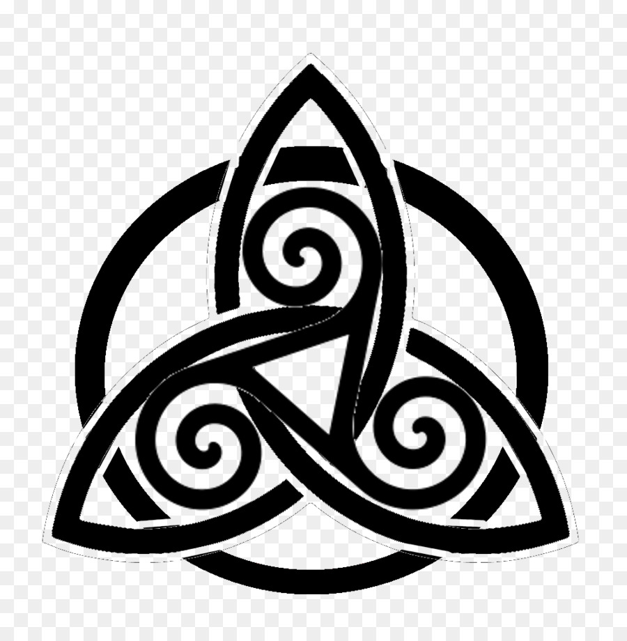 Triple Goddess Symbol Triquetra Wicca Celtic Knot Symbol Png