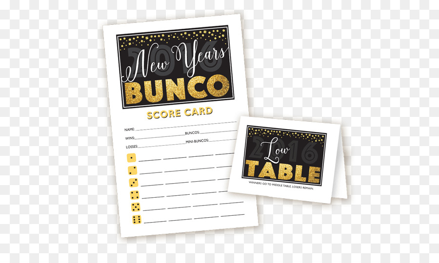 Bunco Party New Year Christmas Game - party png download - 600*526 ...