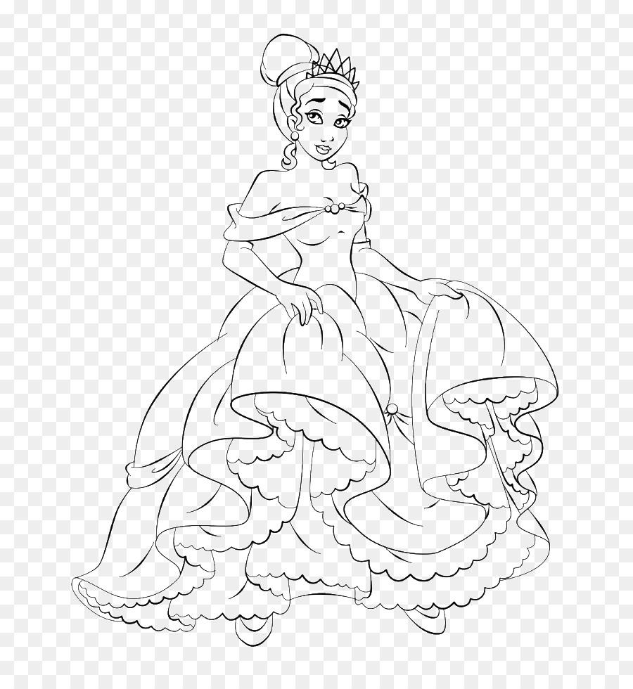 Tiana libro para Colorear en Línea de arte de Disney Princess Belle ...