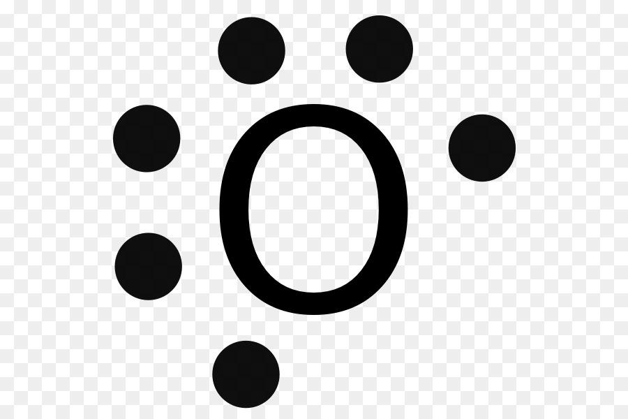 Lewis Structure Valence Electron Oxygen Diagram Symbol Png