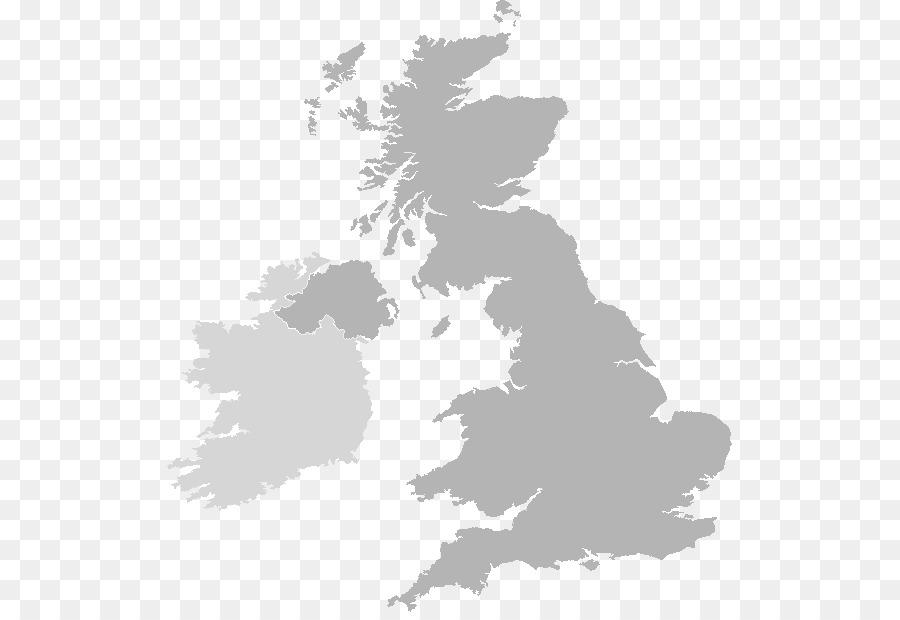 United Kingdom British Isles Blank map - united kingdom png download ...