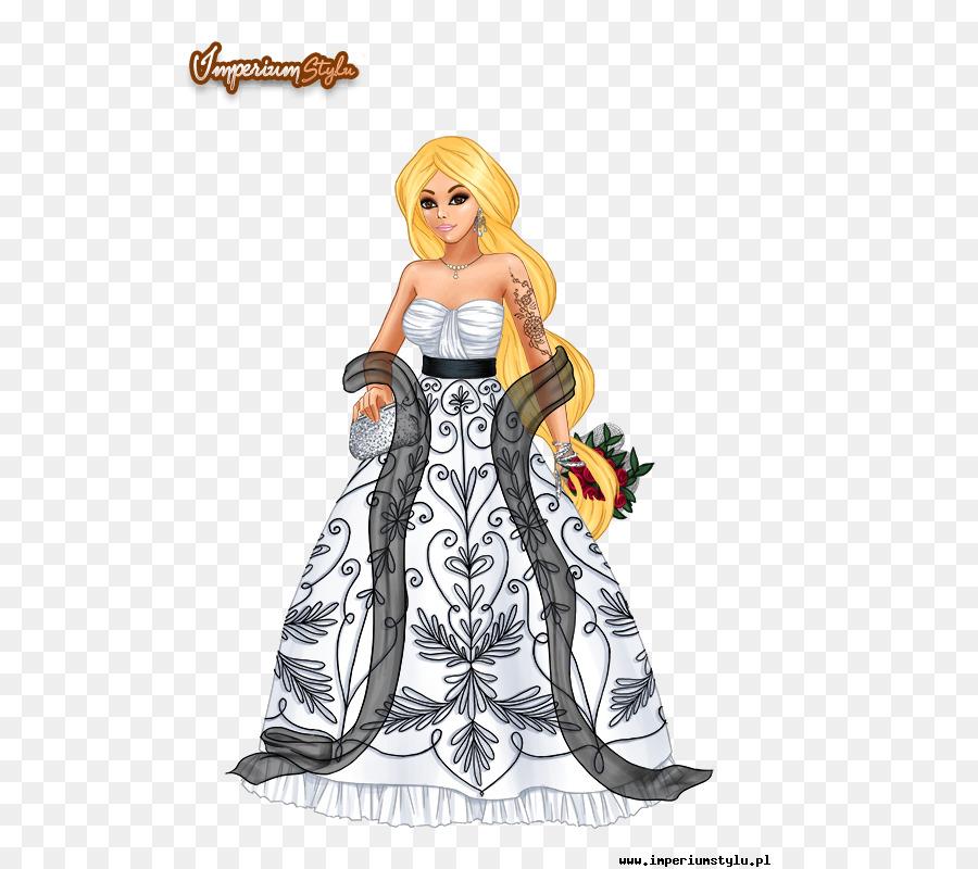 El diseño de vestuario de Lady Popular de dibujos animados de una ...