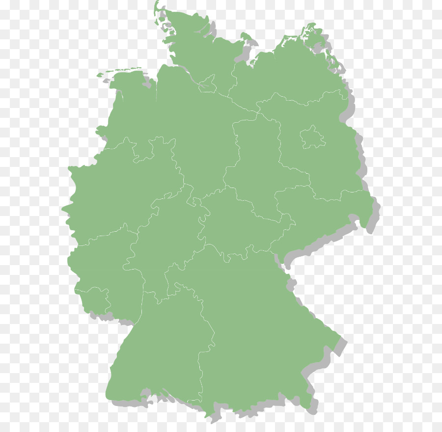 States of Germany Map Flag of Germany Lusatia - map png download ...