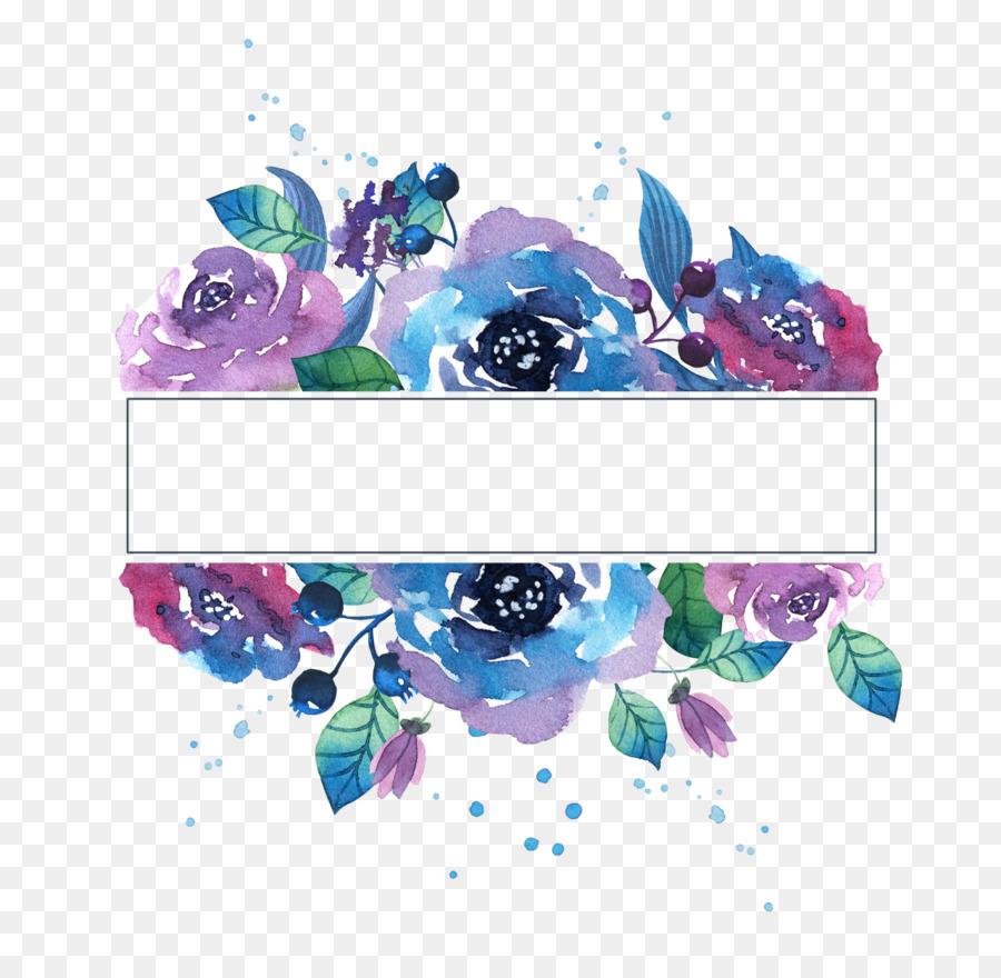Watercolor painting Transparent Watercolor Paper - watercolor blue ...