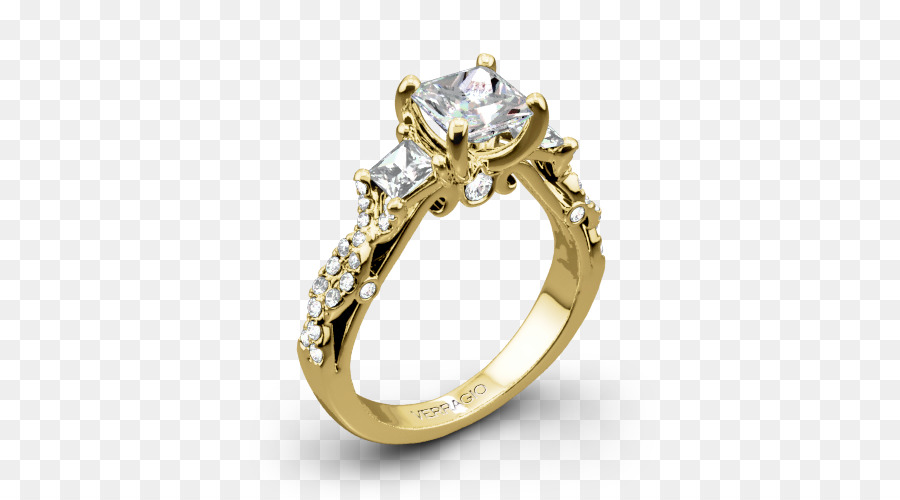 Engagement Ring Wedding Colored Gold