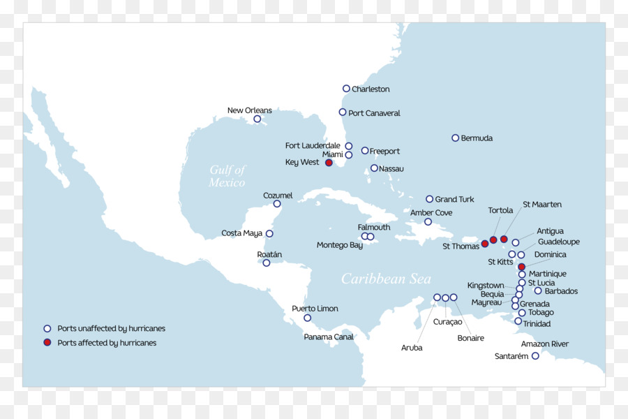 Saint Thomas Map Cruise ship Hurricane Irma P&O Cruises - map png ...