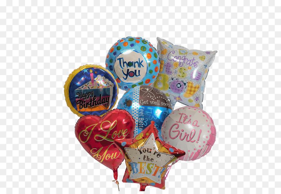 Balloon Flower bouquet Gift Birthday - balloon png download - 500 ...