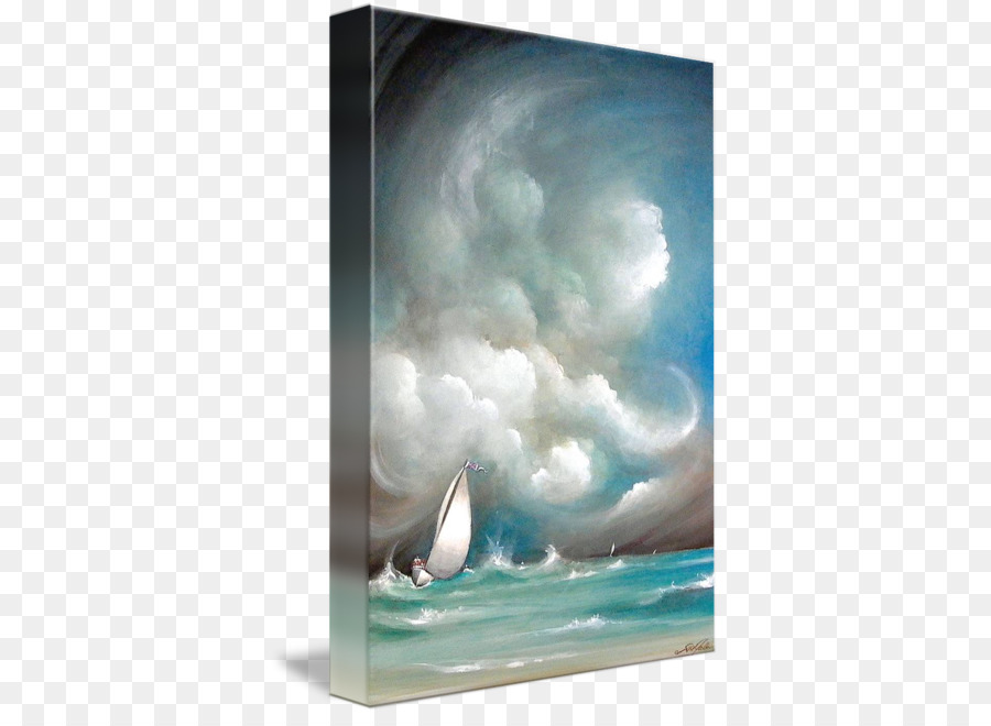 Painting Gallery wrap Picture Frames Modern art Canvas - stormy sea ...