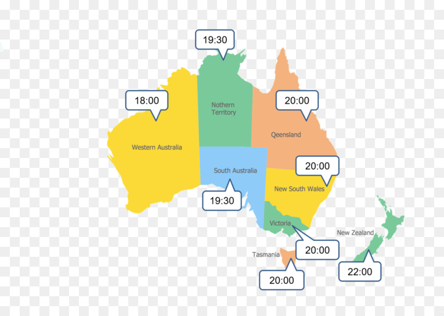 Australia New Zealand World Map Time Zone Others Png Download