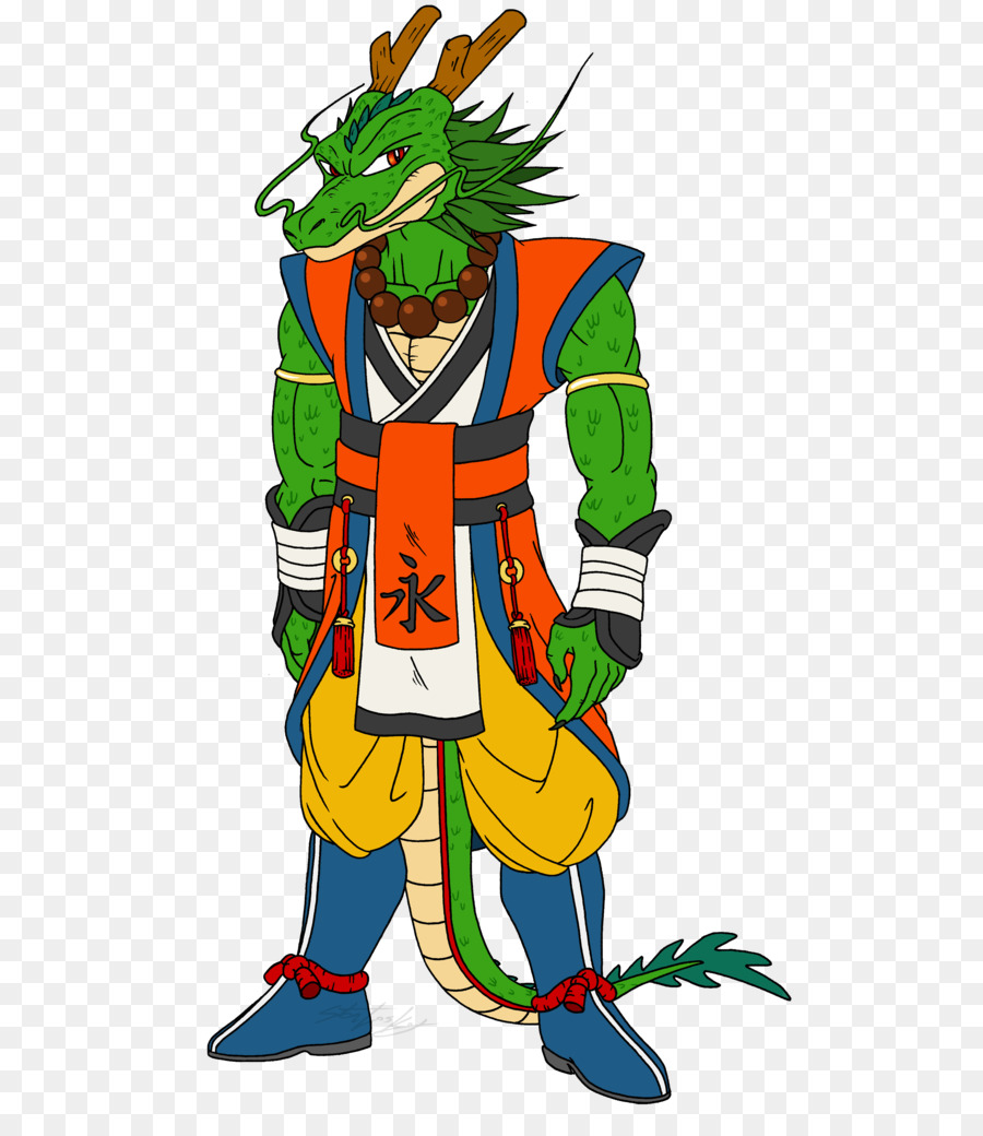 Shenron Goku Ox King Master Roshi Deviantart Goku Png Download