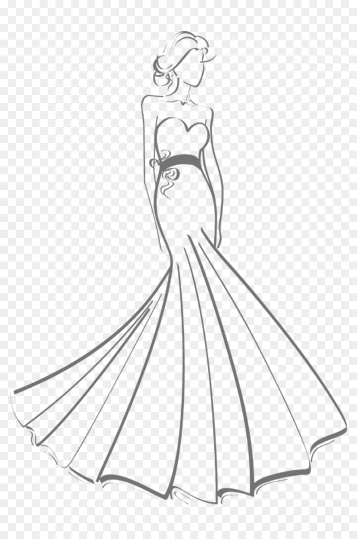Wedding Dress Drawing png download - 1024*1536 - Free Transparent