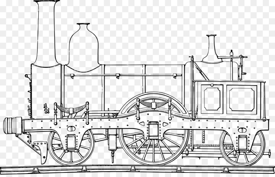 Train Rail Transport Steam Locomotive Coloring Book Train Png