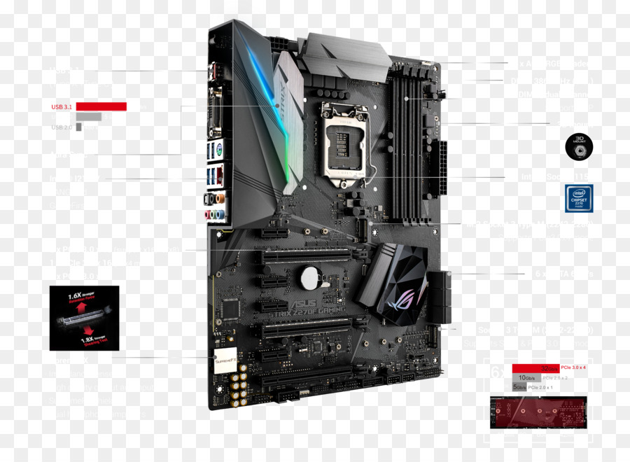 lga 1151 asus rog strix z270f gaming motherboard atx motherboard rh kisspng com atx motherboard diagram with labels pdf atx motherboard layout diagram
