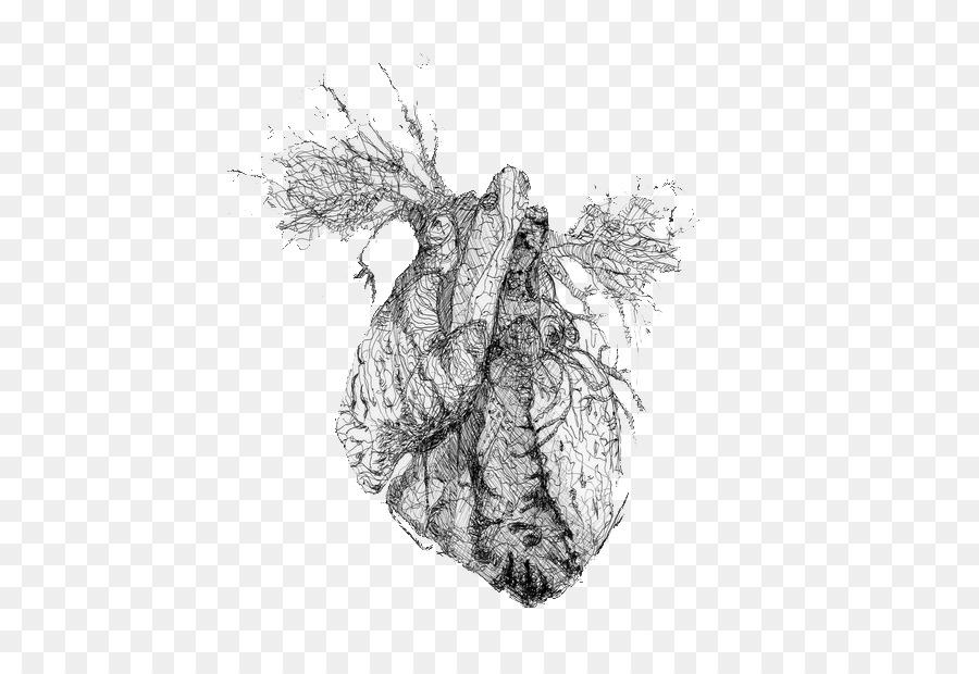 Drawing Tumblr Heart Blog Heart Png Download 600 611 Free