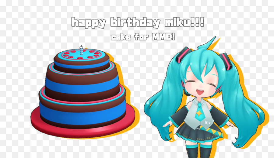 Birthday Cake Hatsune Miku Party Cake Png Download 1177679