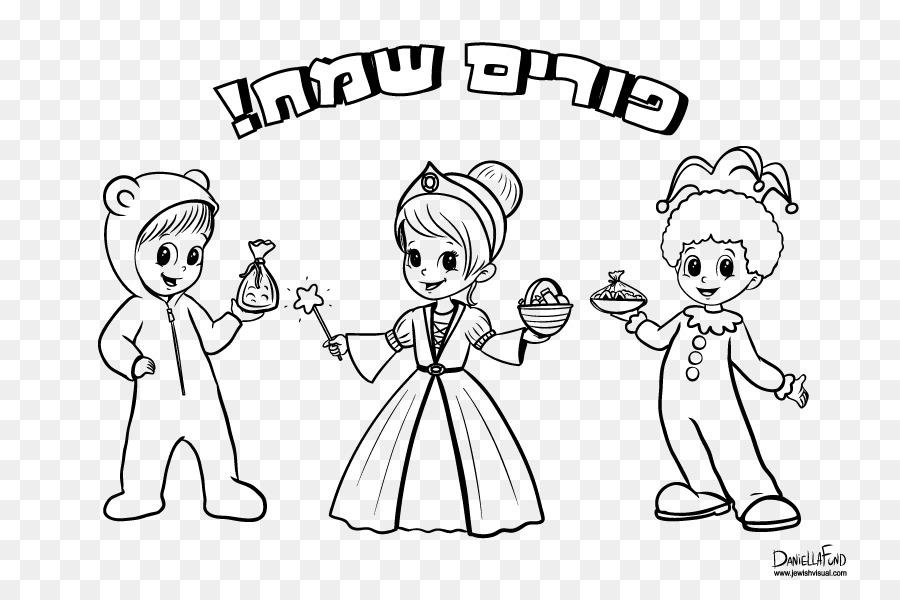 Purim libro para Colorear de Niño Hanukkah Megillah - niño png ...