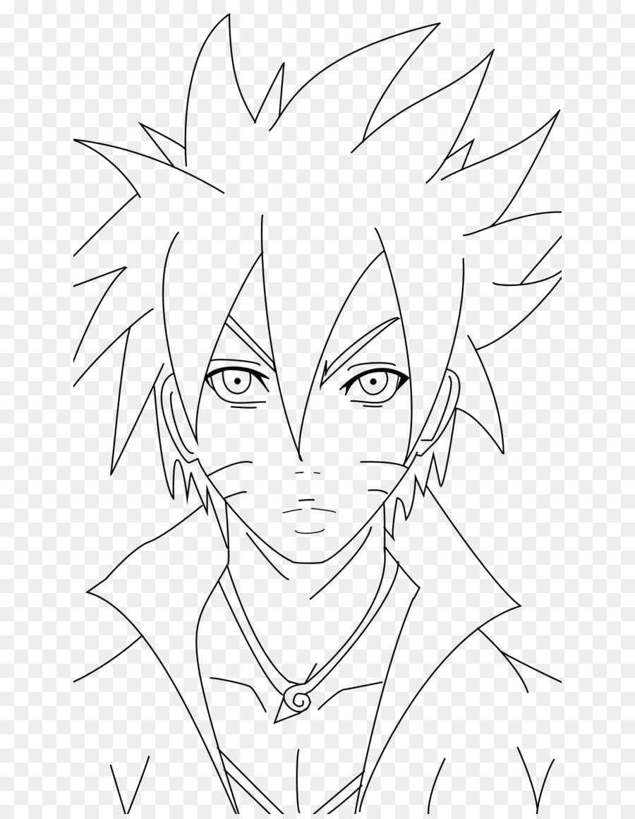 Boruto Uzumaki Garis Seni Gambar Karya Seni Cara Menggambar Naruto