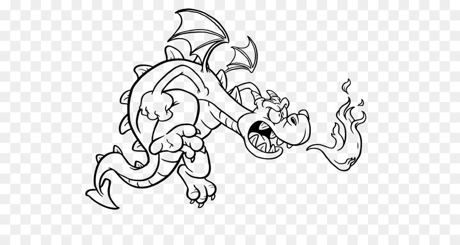Dragón chino Dibujo para Colorear libro de Fantasía - Rox Rouky png ...