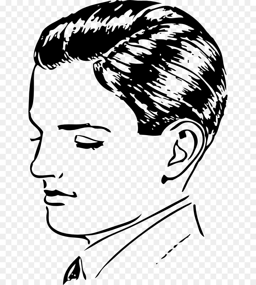 Drawing Cartoon Clip Art Boy Hair Style Png Download 700 1000