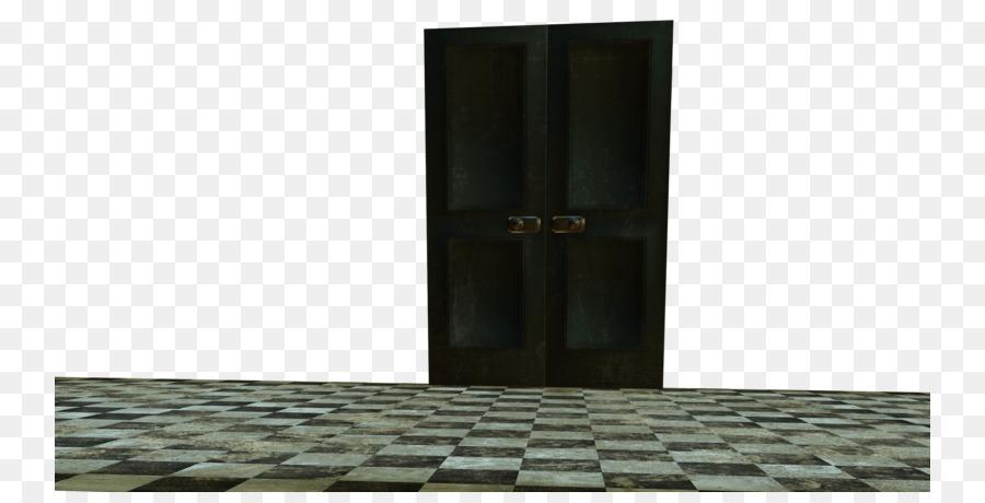 Window Door Wood Deviantart Wall Checkered Floor Png Download
