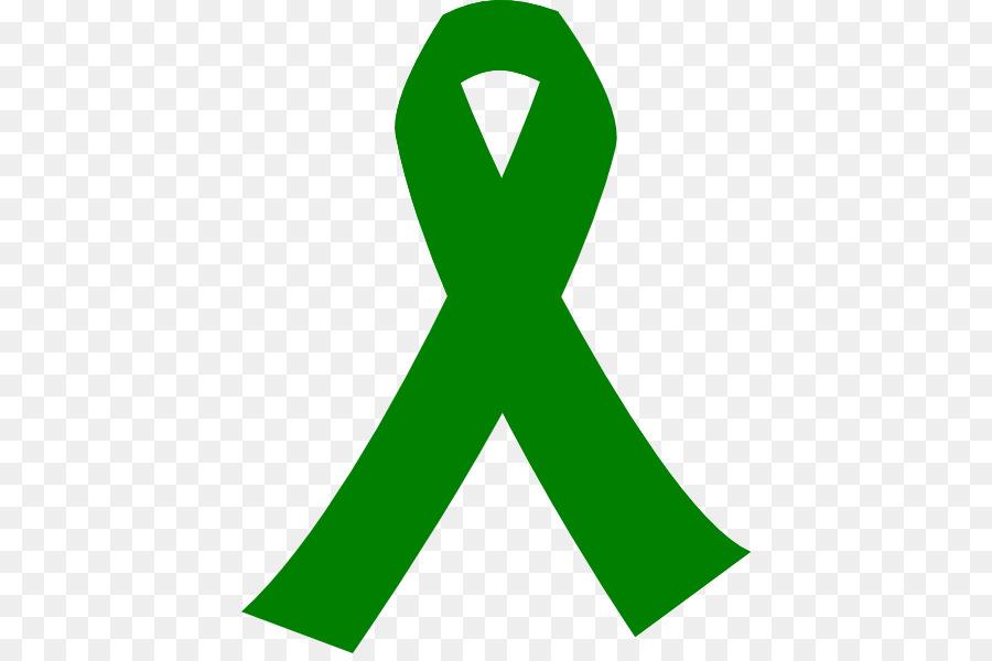 Awareness Ribbon Green Ribbon Cancer Green Rebbon Png Download